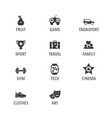 different icons set vector image vector image