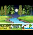 different nature horizontal scenes vector image vector image