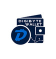 digibyte wallet logo graphic digital asset vector image vector image