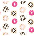 donut glazed seamless pattern vector image vector image