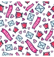 Doodles cute seamless pattern vector image vector image