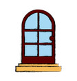 door house isolated vector image vector image