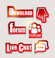 Download Forum Chat Icons vector image vector image