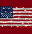 flag usa 4 th of july gold confetti united states vector image