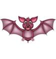 funny purple bat cartoon vector image