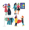 girlfriends pastime together art gallery and vector image vector image