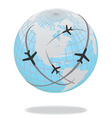 global travel vector image vector image