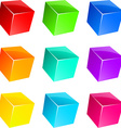 Glossy cubes vector image
