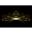 Gold ribbon with a crown and a cross vector image vector image