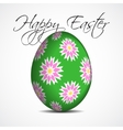 greeting card with text floral Easter egg vector image vector image