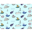 Hand-drawn doodle-style ships and boats seamless vector image vector image