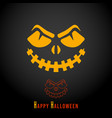 happy halloween minimal design for printing vector image vector image