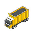 heavy truck isometric composition vector image vector image