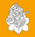 hindu goddess saraswati vector image vector image