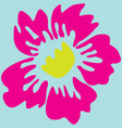 image of a pink flower vector image
