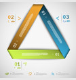 Infographic paper triangle template vector image vector image