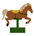 isolated carousel horse icon vector image