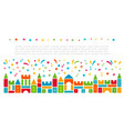 kids castle from colorful toy blocks with festive vector image vector image