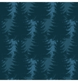 Layered pine forest seamless pattern vector image