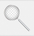 magnifying glass isolated on transparent vector image vector image