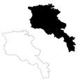 Map armenia isolated black