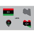 Map of Libya and symbol vector image vector image