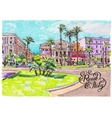 marker painting of Rome Italy cityscape with hand vector image vector image