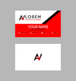 modern creative business card template with av vector image vector image