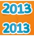 New year label vector image