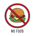 no food symbol sign doodle hand drawing i vector image