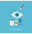 Ophthalmology flat concept vector image