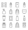 packagiong store shop icons set outline style vector image vector image
