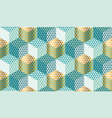 pastel and gold geometric seamless pattern vector image vector image