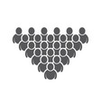 people icon work group vector image vector image
