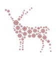 Reindeer isolated vector image vector image