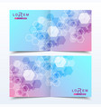 scientific templates square brochure magazine vector image vector image