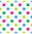 seamless pattern in multi-colored polka dots vector image