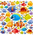 Seamless Sea travel icon set underwater diving vector image vector image
