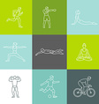 set linear sport icons vector image vector image