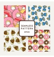 Set of Candy Bows and Muffins Seamless vector image vector image