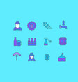 set simple line icons octoberfest vector image vector image