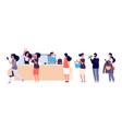 shopping people queue fashion store cash desk vector image vector image