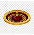side view roulette casino mockup realistic style vector image