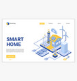 smart home landing page template vector image