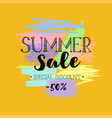 summer sale template 5 vector image vector image