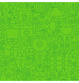 Thin Line Saint Patrick Day Seamless Green Pattern vector image vector image