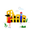 travel to italy - colorful flat design style vector image