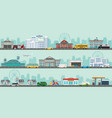 urban big cityscape with various large modern vector image vector image