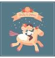 cute cartoon wedding card vector image