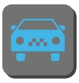Taxi Car Rounded Square Button vector image